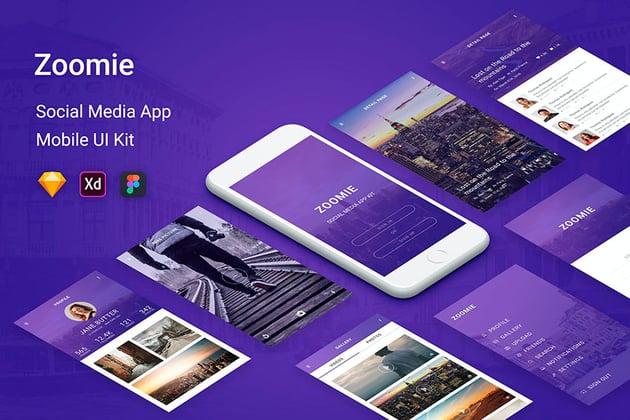 Zoomie - Social Media Mobile UI App