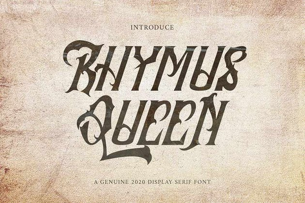 Rhymus Queen - Gothic Blackletter
