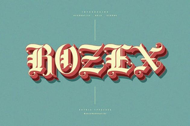Rozex - Bold Decorative Gothic Font