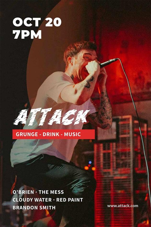 Grunge Concert Flyer Template