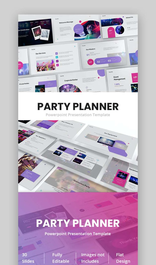 Party Planner Wedding Powerpoint Theme