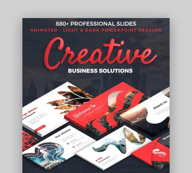 Creative Business Plan PowerPoint Custom Theme