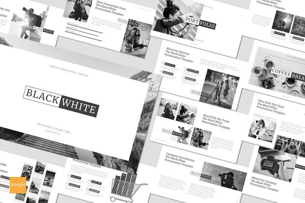 Black and White - Google Slides Template