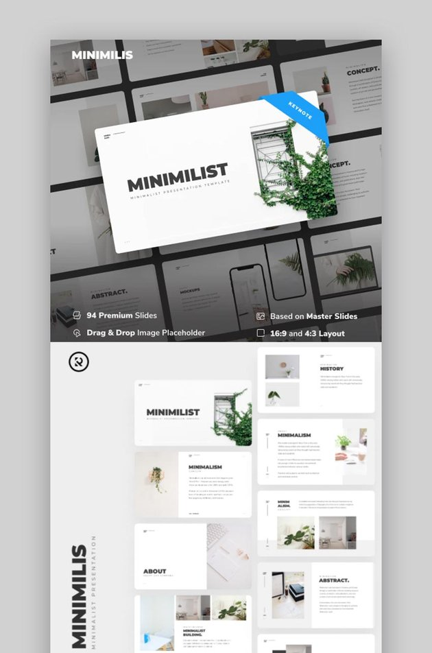 Minimilis - Minimalist Business Keynote Template