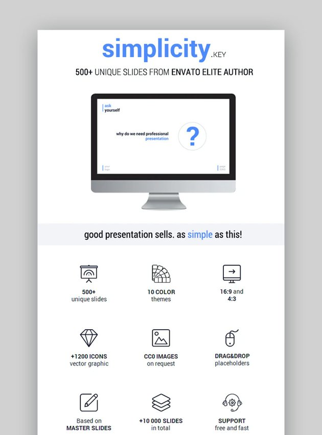 Simplicity Keynote Mac Präsentationsvorlage