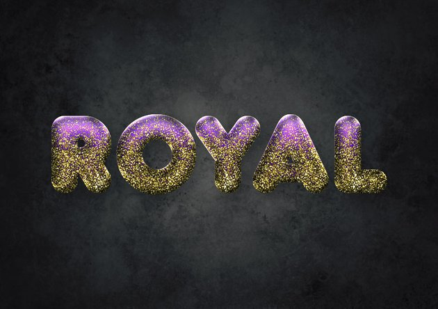 How to Create an Easy Gold Glitter Text Effect in Adobe Photoshop