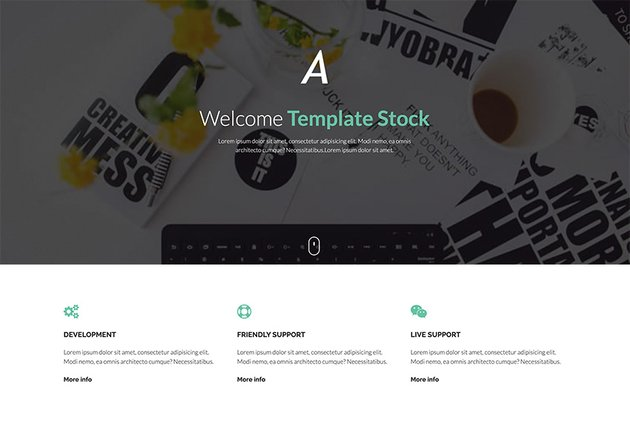 Active Free HTML Website Template