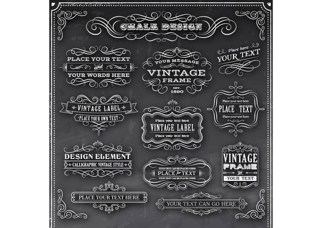 Chalkboard Vintage Flourish Pack