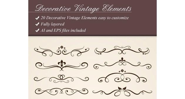 Decorative Vintage Flourish Set