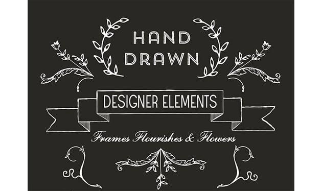 Hand Drawn Free Vector Art Flourishes
