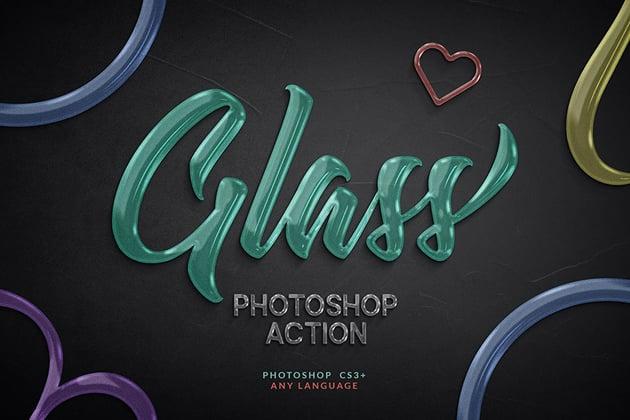 Glass Texture Photoshop Action