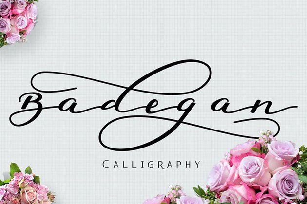Badegan Modern Calligraphy Script Font Alphabet Download