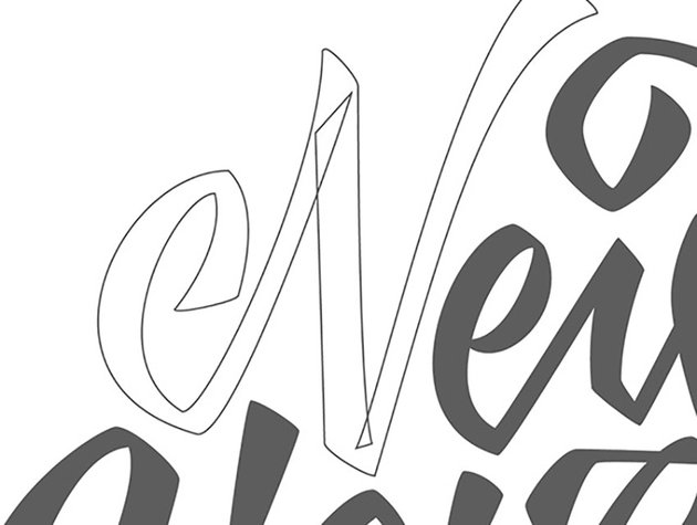 How to Hand Draw Letters Tutorial Handling Bezier Crossover Technique