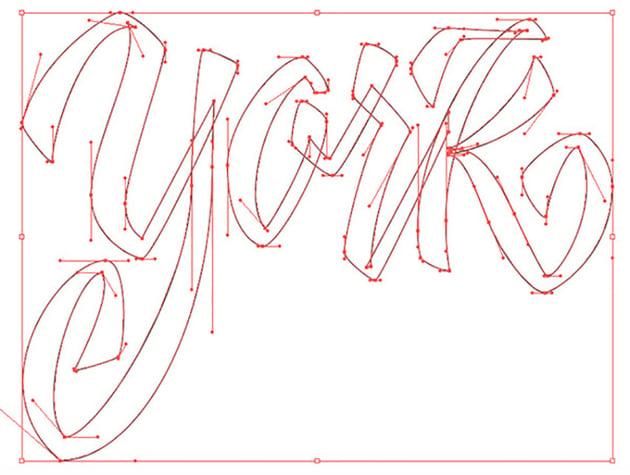 Hand Drawn Lettering Illustrator Tutorial Handling Bezier York Vector