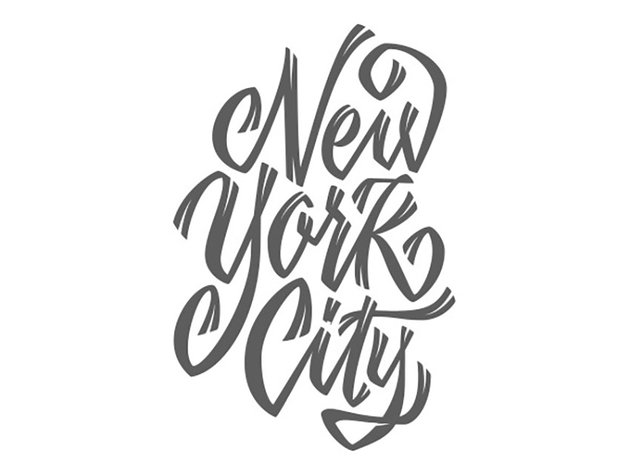 Hand Drawn Lettering Illustrator Tutorial Handling Bezier Vector NYC Notches