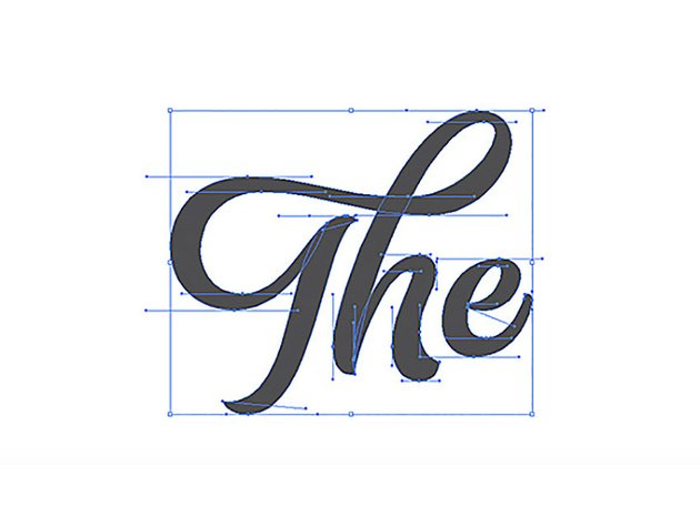 How to Hand Draw Letters Tutorial Handling Bezier The Completed Vector