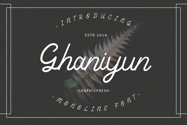 Cursive Calligraphy Hand Lettering Fonts From Envato Elements Ghaniyun Monoline