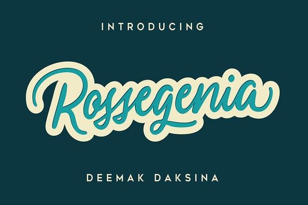 Rossegenia Best Cursive Signature Font