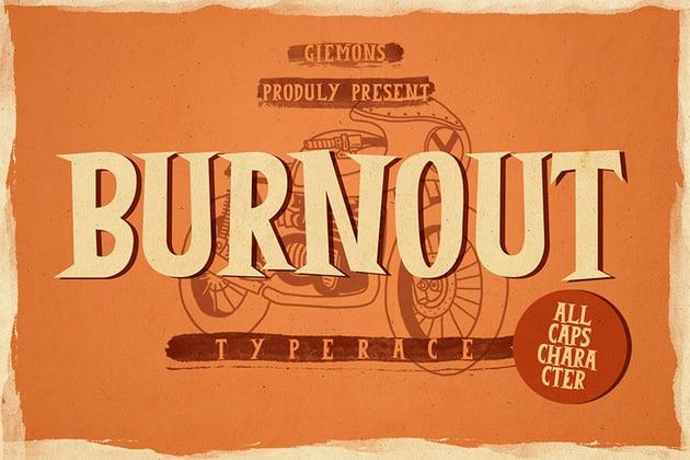 Burnout Font Download