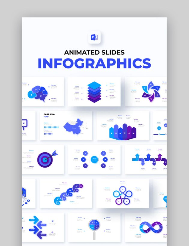 Animated PPT Business Infographic Slides Template
