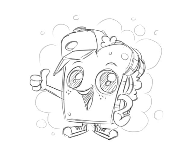 Mascot Character Design Tutorial Step 2 Mascot Drawing