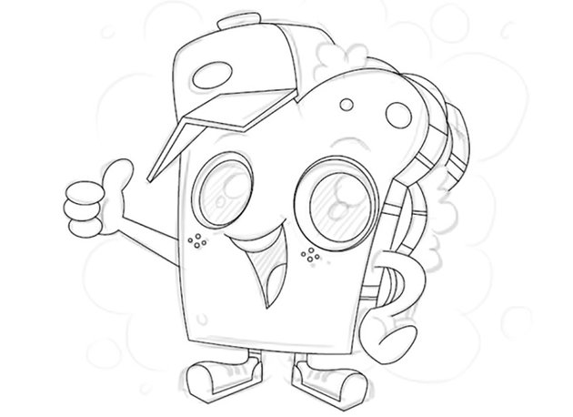 Digital Mascot Design Tutorial adobe illustrator same line width stroke same lifeless character