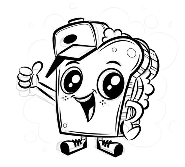 Digital Mascot Design Tutorial adobe illustrator outline pen tool path tweak black zone mascot save