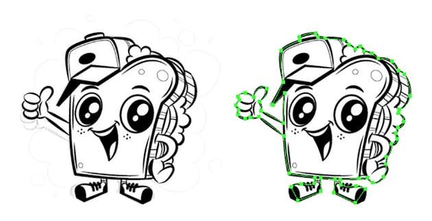 Logo and Mascot Design Tutorial adobe illustrator duplicate white background grey scale mascot