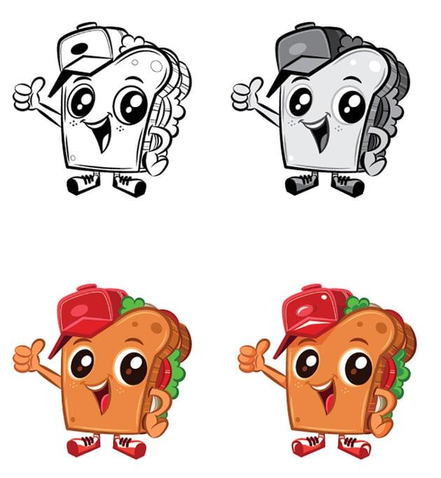 Mascot Character Design Tutorial final result