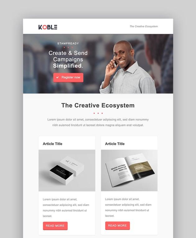 Koble Best Email Newsletter Marketing Design Templates