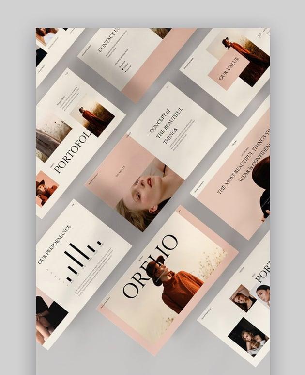 Orelio Simple PowerPoint Background Template