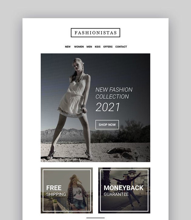 Fashion  Ecommerce - Responsive Email with Mailchimp Editor  StampReady Builder