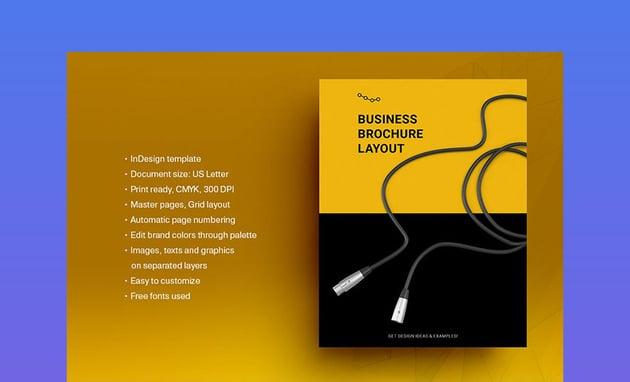 Yellow Brochure Template