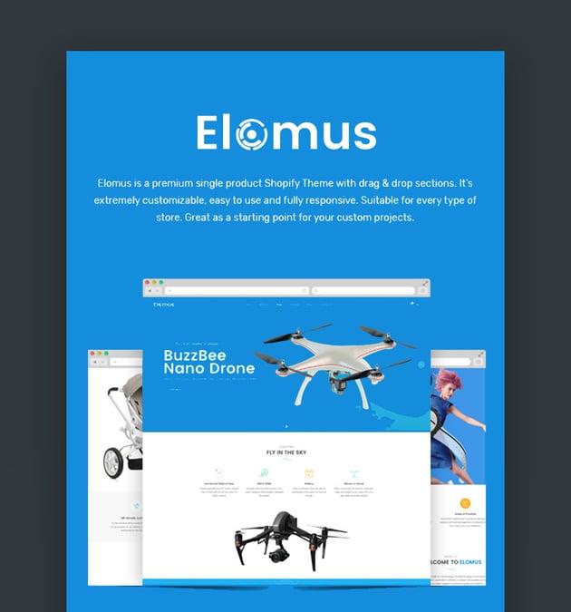 Elomus Shopify Website