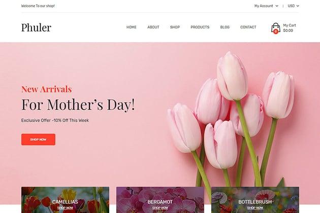 Phuler Flower Shop Shopify Theme Download