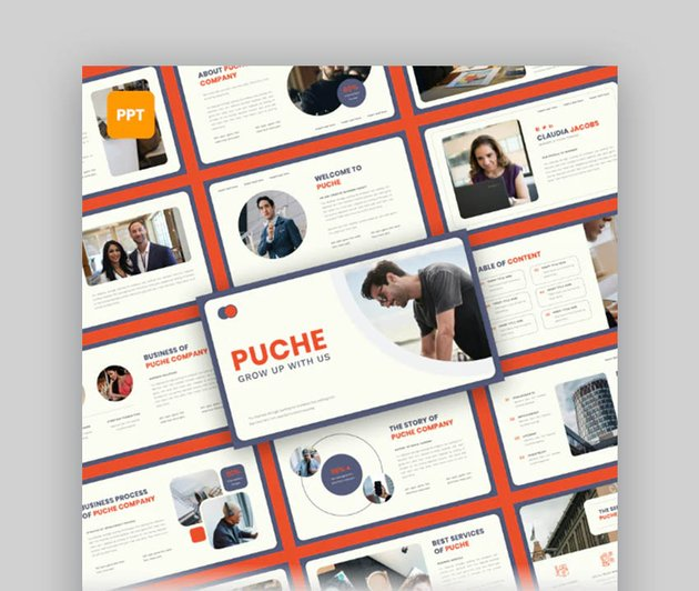 Puche Modern PowerPoint Presentation Theme for PPT Ideas