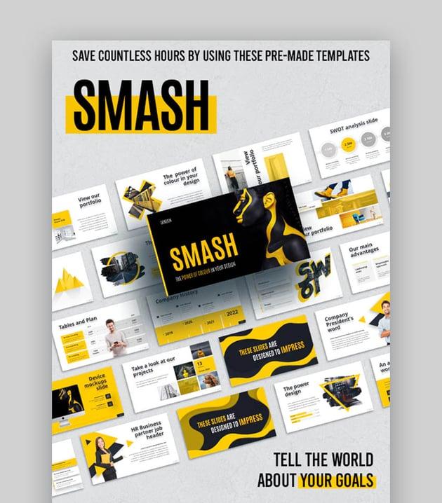 Smash Animated Creative Modern PowerPoint Template