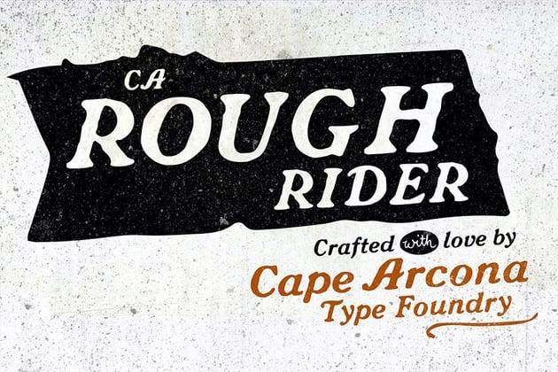 Ca Rough Rider Decorative Script Font