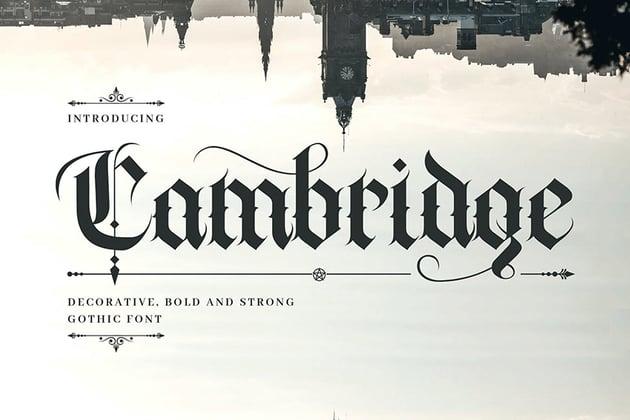 Cambridge Decorative Gothic Font
