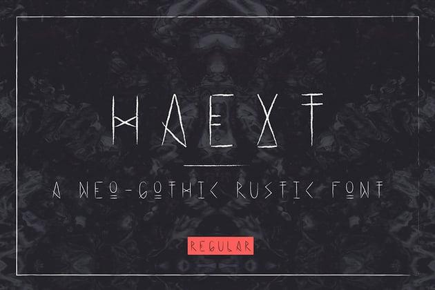 Haext Regular Decorative Gothic Font