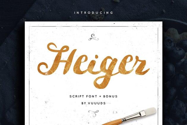 Heiger Brush Script Font
