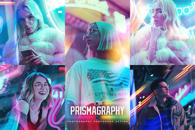 Prismagraphy Photoshop Action