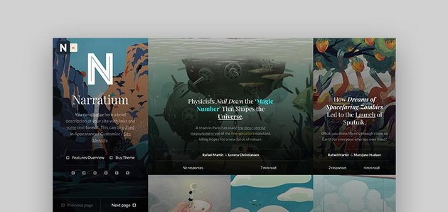 Narratium Author WordPress Theme