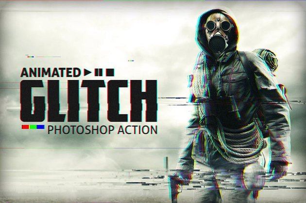 Moving Glitch Photo Effect for Photoshop