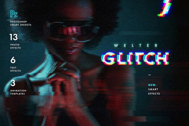 Welter Digital Glitch Effects Photoshop