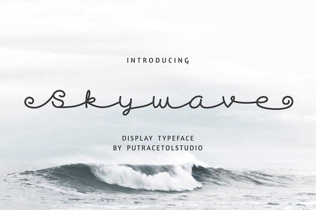 Skywave Cursive Font Download for PC and Mac