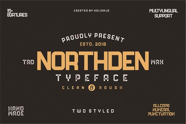 Northden Sans Serif Typography Font Download