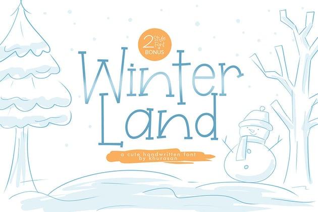 WinterLand Fun Modern Serif Typography Font