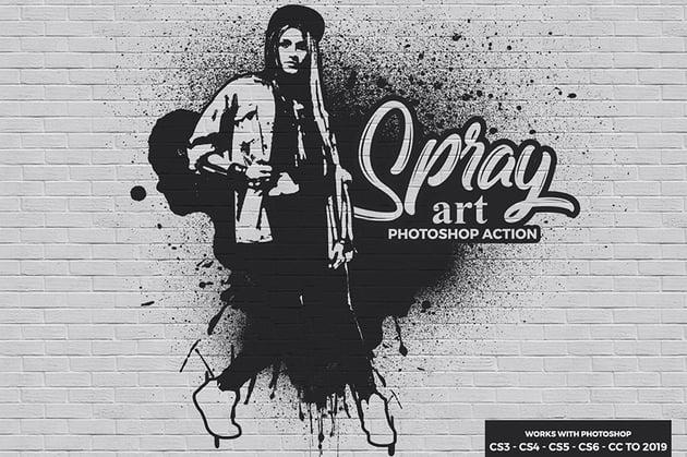 Spray Art Photoshop Action