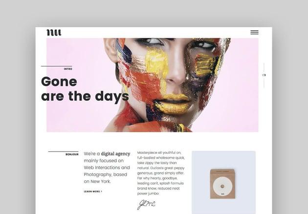 Adios Einzigartiges Minimal Creative WordPress Theme